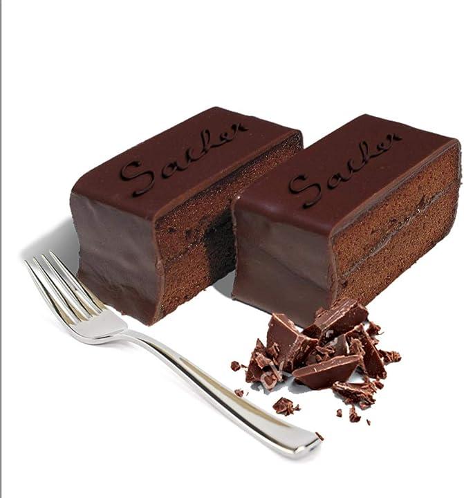 Torta sacher al cioccolato, 10 fette - 1,2 kg, la torta al cioccolato più amata al mondo gustos alto adige B079J2Z1JG