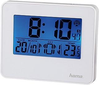 Hama Radioväckarklocka RC 650 (2 väckningstider, bakgrundsbelysning och snooze-funktion kan styras med rörelsesensorer) vä...