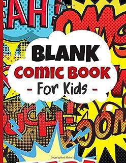 Blank Comic Book For Kids: Create Your Own Anime Manga Comics - Blank Comic Templates For Anime Drawing - Comic Sketch Notebook, (Blank Comic Books).