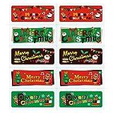 Lumanuby 100 Stück 'Merry Christmas' Etiketten Aufkleber Selbstklebend für Cookie Schokolade Keks Sealing Sticker aus Papier mit Weihnachtsmann Bild Zubehör für DIY oder Geschäft für...
