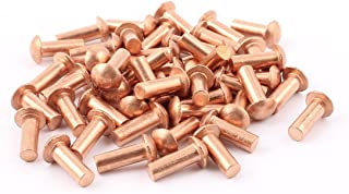 """Copper Solid Rivets 1.3mm Wide x 1//4/"""" Long Package Of 100"""