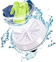 ماشین لباسشویی WAQIA Mini Washing قابل حمل توربین التراسونیک ، ماشین لباسشویی قابل حمل با USB برای سفر تجاری یا کالج