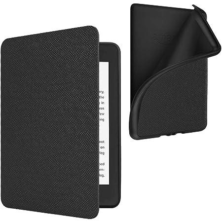 Fintie Custodia per Kindle Paperwhite (10ª generazione - modello 2018) - Super Leggero Soft Cover Posteriore in TPU con Funzione Auto Svegliati/Sonno, Nero