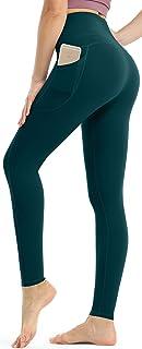 Persit Damen Leggings, Blickdicht Sporthose High Waist Yoga Leggings mit Taschen