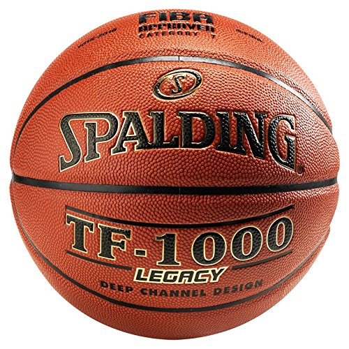 Spalding Basketball TF1000 Legacy DBB Fiba 74-589z, Orange, 7
