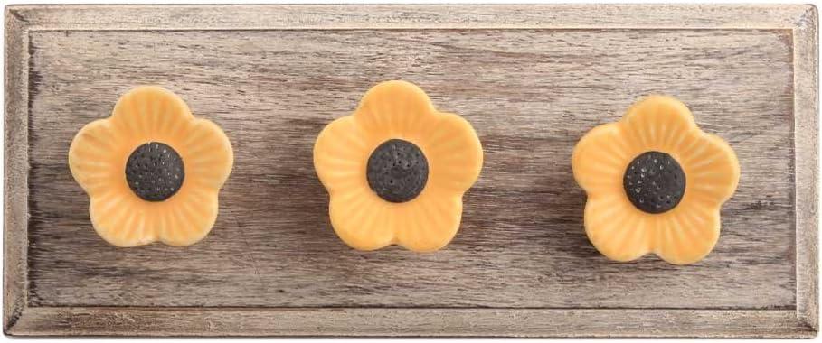 IndianShelf 2 Piece Handmade Max 44% OFF Mustard excellence Daffodils Wooden Hooks Coat
