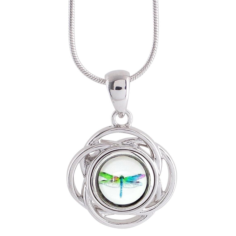 Dragonfly Snap Charm Shiny Pendant Necklace for 12mm Mini Snaps (KS0957-S)