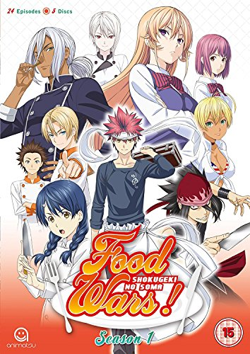 Food Wars! Complete Season 1 (Episodes 1-24) [5 DVDs] [UK Import]