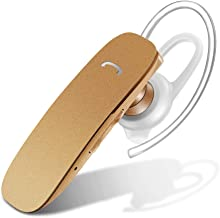 Bluetooth Headset for Cell Phones - GLCON Hands Free Bluetooth Wireless Earpiece with Noise Cancelling Mic for Driver Trucker Workout - Stereo Bluetooth Headphones Earbuds for iPhone Samsung Android