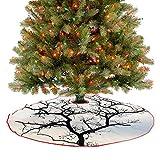 Adorise Faldón de árbol de otoño ramas negras para fiesta de Año Nuevo Suministro para casa de granja, chimenea, fiesta de vacaciones – 122 cm