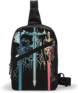 Sword Art Online Bolso Bandolera De Hombre Bolso Cruzada Hombre Bolsa De Pecho Sling Bag Crossbody Para Al Aire Libre Camp...
