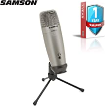 Samson C01U Pro USB Studio Condenser Microphone (Silver) with Extended Warranty Bundle