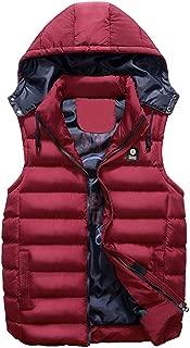 Vest Men's Winter Coat Double-Sided Wear Cotton Warm Hooded Top Shearling Jacket