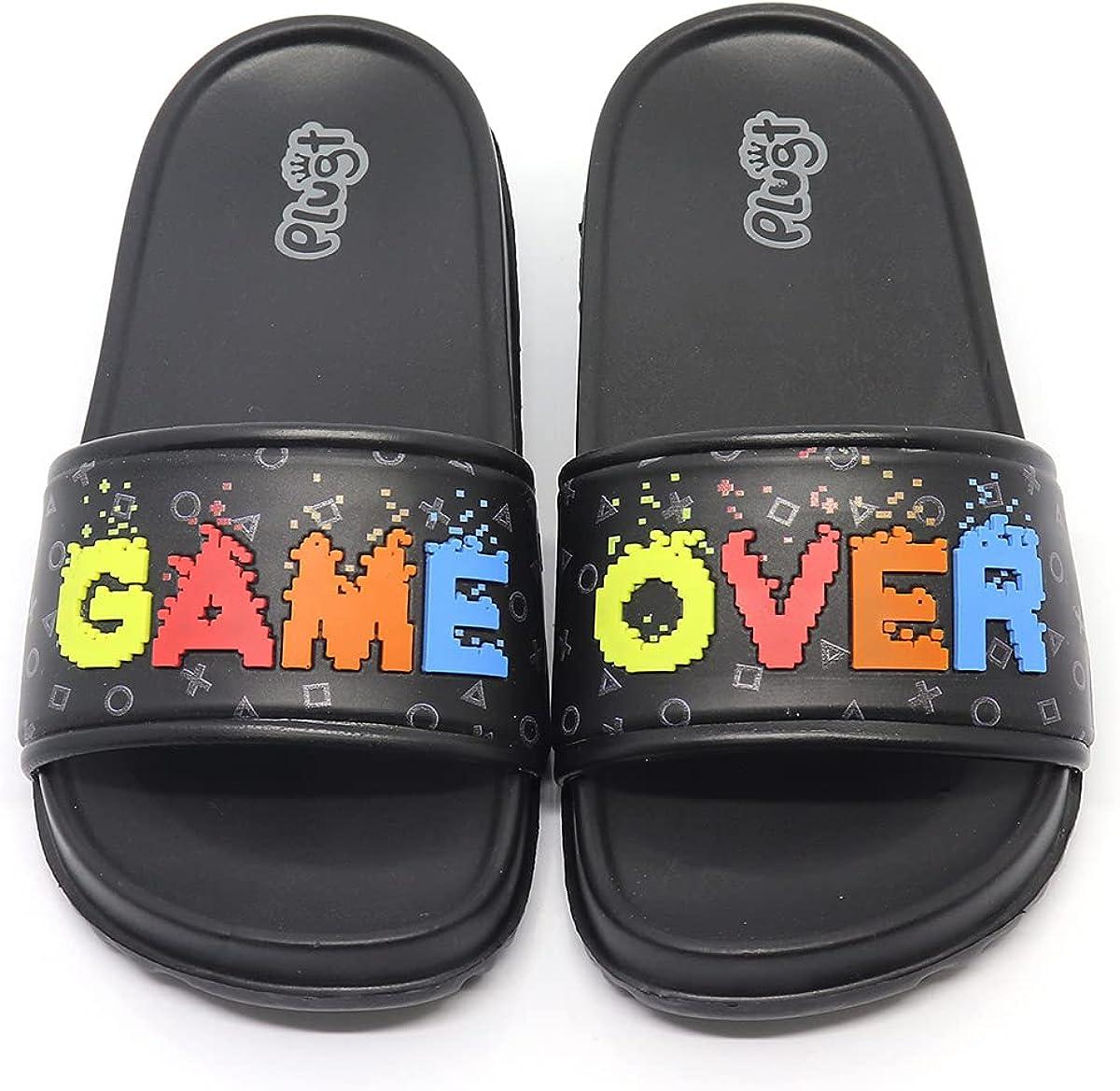 Plugt Boys Slipper Slide Game Over | Slip On Kids Pool Bath Beach Summer