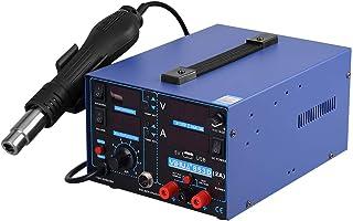 Estaci/ón de trabajo digital profesional 2 en 1 para soldadura de aire caliente 120 L//min controlador PCI para ambos 75 W//650 W Yihua 862D+