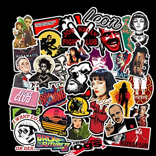 PMSMT 50 unids película clásica Pulp Fiction Padrino Mix Graffiti Pegatinas para teléfono móvil Guitarra portátil Equipaje monopatín calcomanía Pegatina