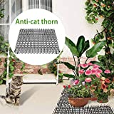 Fanclande Cat Scat Spike Mat, 5 Piezas De Jardinería Ecológica Plástico Anti-Gato Espinas Almohadilla Repelente para Gatos Y Perros Uñas De Plástico