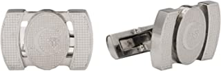 Diamond Moon Stainless Steel Cufflinks for Men, Stainless Steel - 1800541240448