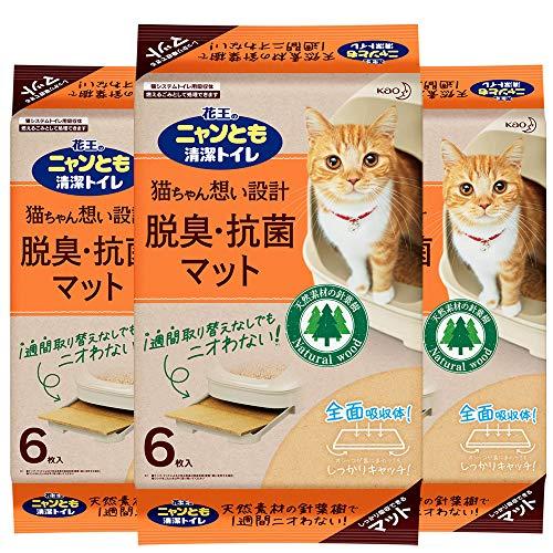 スマートマットライト 花王 ニャンとも清潔トイレ 脱臭・抗菌マット 6枚入り×3個入り [猫用トイレ]