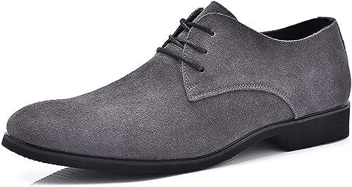 SJ-COOL Offre spéciale Décontracté Oxford Chaussures pour Hommes - Chaussures Formelles - Dentelle - Cuir polyuréthane à tête Pure en Couleur