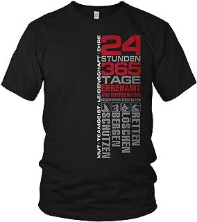 vanVerden Feuerwehr - 24 Stunden 365 Tage Retten, Löschen, Bergen, Schützen 112 - Ehrenamt Freiwillige Feuerwehr Spruch Motiv - Herren T-Shirt und Männer Tshirt
