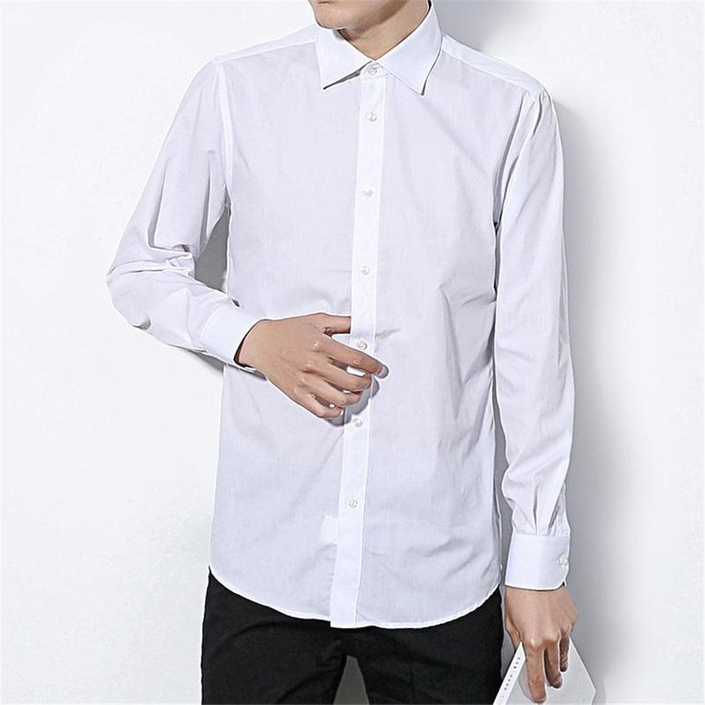 Mnner ist Reine Farbe Hemd mnner Hemd lssig und Reine Farbe Hemd,weie,3XL