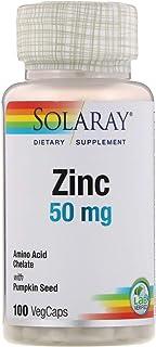 Zinc 50mg Solaray 100 Veg Cap