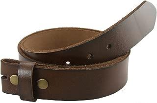 Pele Belt Women 30 mm Wide Genuine Full Grain Cowhide Dark Edges Brass Buckle