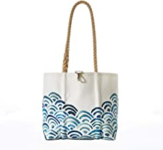 product image for Sea Bags Recycled Sail Cloth Watercolor Waves Handbag