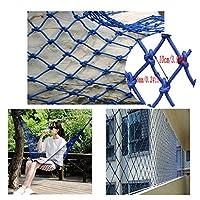 安全ネット 多目的な用途のネット 階段ネット ベランダ 防護ネット 子供 転落防止網 防獣 防鳥 網 子供から落ちないようにする青い子供の安全網のバルコニーの塀の塀の塀の壁の装飾の網のナイロン網1-10mテラスの子供の安全網(網10cm /ロープの厚さ6mm) フェンス 手すり ネット 園芸用ネット 高所 防犯 防獣、窓部、屋内など怪我防止 危険防止 簡単設置 (Size : 3*4m)