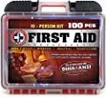 Be Smart Get Prepared 100Piece First Aid Kit, Exceeds OSHA Ansi Standards for 10 People - Office, Home, Car, School, Emergency, Survival, Camping, Hunting, Sports
