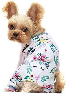 Fitwarm Unicorn Pet Clothes for Dog Pajamas Cat Onesies Lightweight Velvet Pink