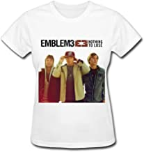 QMY Women's Emblem3 Nothing To Lose T-shirts White