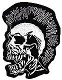 PUNK Totenkopf Aufnäher Bügelbild
