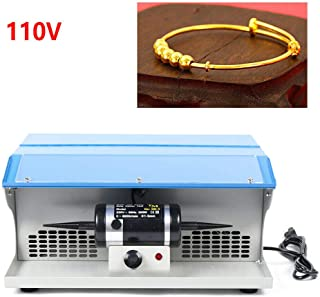 NICE CHOOSE Polishing Buffing Machine, 110V Jewelry Polishing Tool Dust Collector Buffing Table Top with Light 200W - US Shipping