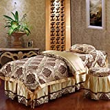 JIAOXM Beauty Bed Cover Bed Skirt Sheet,Massage Table Sheet Sets,4 Piece Sets Soft