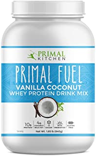 Primal Kitchen Primal Fuel Vanilla Coconut Whey Protein Powder- Updated Contains No Soy - 10g of Protein (1.85 Lbs)
