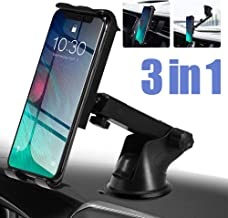 PaiTree 3 in 1 Car Phone Mount for Dashboard Air Vent Windshield Super Strong Suction Cell Phone Holder for Car 360°Rotation Car Phone Holder for iPhone 11/11 pro/11 pro max/Xs Max/XS/XR/XP/Galaxy S10
