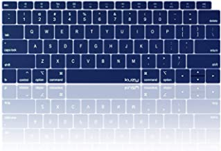 Kuzy - MacBook Air Keyboard Cover, 13 inch 2019 2018 New A1932 with Touch ID and Retina Display Silicone Key Board Protective Skin Protector, Apple MacBook Air Accessories - Navy
