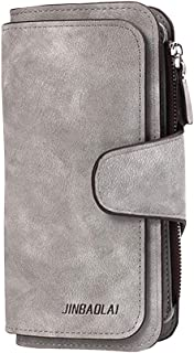 Garyesh womens wallets Leather Long Ladies Clutch Purse Multi-card