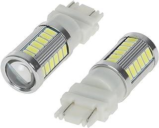 WerFamily 2X 3157 3156 3057 4114 4157 33-SMD 5730 High Power White LED Light Bulbs for Car Auto Brake Turn Signal Tailligh...