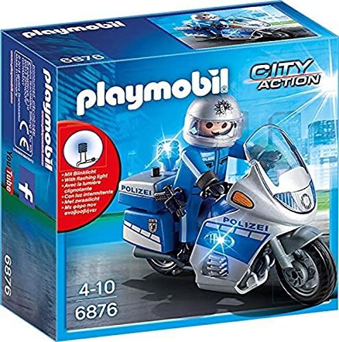 PLAYMOBIL 6876 - Moto treife con lampeggiante a LED