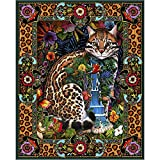 Cat Puzzles for Adults 1000 Piece - Tapestry Cats Jigsaw Puzzle for Adults 1000 Piece Gift for Puzzle Lovers Challenging Tropical Cat Lewis T. Johnson 24 x 30
