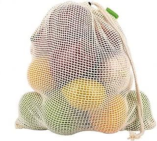 Vegetable Fruit Bag Storage Bag Reusable Produce Bags, Eco-Friendly 100% Organic Cotton Mesh Bags , Bio-degradable Kitchen