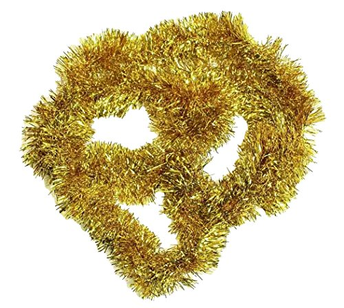 HAAC Ghirlanda di abete lunghezza 2 metri colore oro per Natale