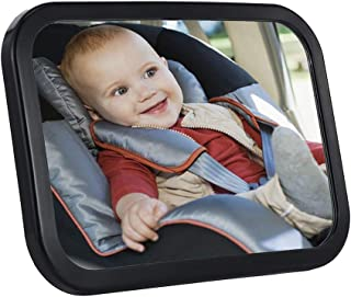 SDY Baby Car Mirror Safety Car Seat Mirror for Rear Facing Infant with Wide Crystal Clear View, Shatterproof, Fully Assembled