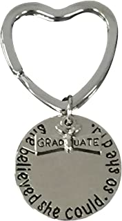 Infinity Collection Graduation Keychain, She Believed She Could So She Did Graduation Gift, for Graduates, 2019 Edition
