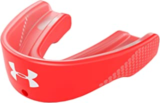 Under Armour Flavor Mouth Guard Sports for Football, Lacrosse, Basketball, Hockey, Boxing, MMA, Jiu jitsu. Includes Detachable Helmet Strap. Kids, Youth & Adult. Boys and Girl. Protectar Bucal, Red