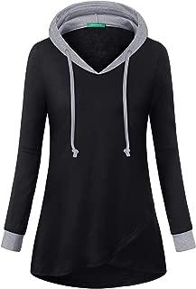 Kimmery Women's Long Sleeve Patchwork Lightweight Pullover Hoodies