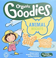 Organix Goodies - Stage 4 from 12 Months - Organic Biscuits - Animal Biscuits - 100g (Case of 5)